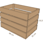 dessin de caisse en bois