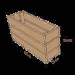 dessin caisse en bois