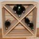 casier à bouteilles de vin caisse en bois