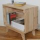 petit meuble de chevet avec caisse en bois